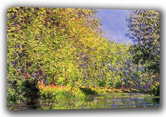 Monet, Claude: A Bend of the River Epte, Giverny. Fine Art Landscape Canvas. Sizes: A3/A2/A1 (00746)